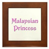 Malaysian Princess Framed Tile