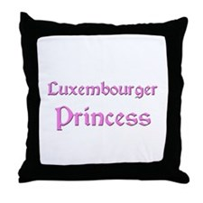 Luxembourger Princess Throw Pillow