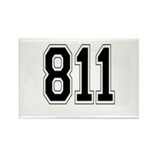 811 Rectangle Magnet (10 pack)