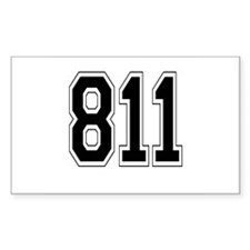 811 Rectangle Decal