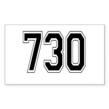 730 Rectangle Sticker 50 pk)