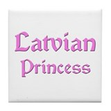 Latvian Princess Tile Coaster