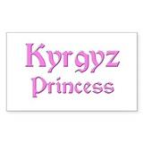 Kyrgyz Princess Rectangle Decal