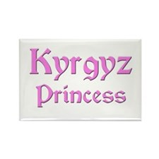 Kyrgyz Princess Rectangle Magnet (10 pack)