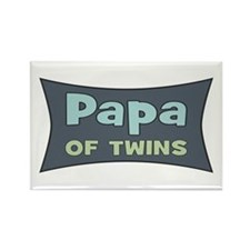 Papa of Twins Rectangle Magnet