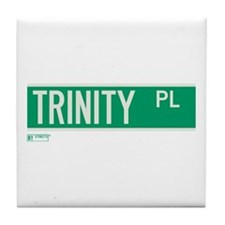 Trinity Place in NY Tile Coaster