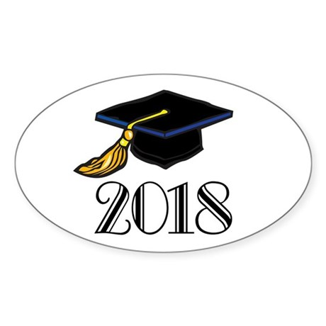2018 Graduation Oval Sticker (10 pk)