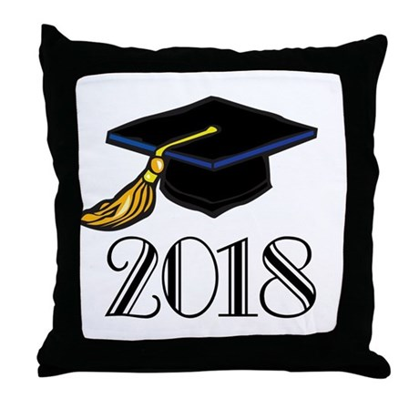 2018 Graduation Throw Pillow