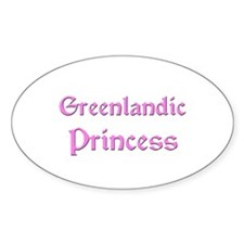 Greenlandic Princess Oval Decal