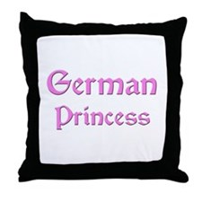 German Princess Throw Pillow