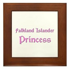 Falkland Islander Princess Framed Tile