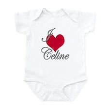 I love (heart) Celine Infant Bodysuit