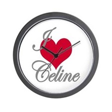 I love (heart) Celine Wall Clock