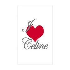 I love (heart) Celine Rectangle Sticker 10 pk)