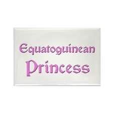 Equatoguinean Princess Rectangle Magnet (10 pack)