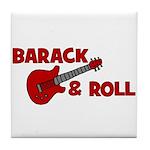 BARACK & ROLL Tile Coaster