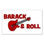 BARACK & ROLL Rectangle Sticker