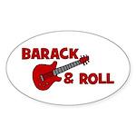BARACK & ROLL Oval Sticker