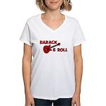 BARACK & ROLL Women's V-Neck T-Shirt