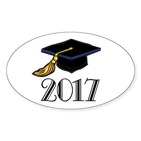 2017 Graduation Oval Sticker