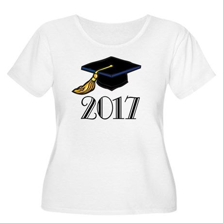2017 Graduation Women's Plus Size Scoop Neck T-Shi