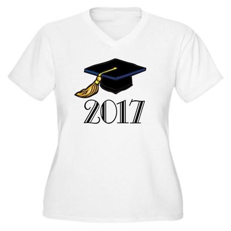 2017 Graduation Women's Plus Size V-Neck T-Shirt