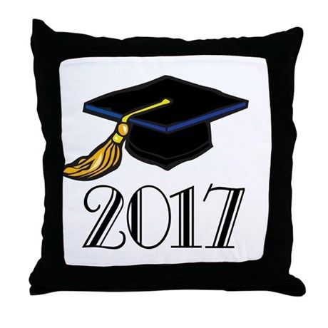 2017 Graduation Throw Pillow