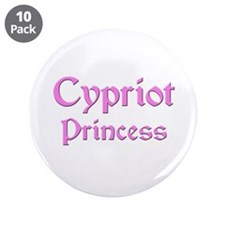 "Cypriot Princess 3.5"" Button (10 pack)"