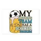 Soccer Drinking Team Postcards (Package of 8)