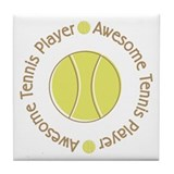 Awesome Tennis Player Tile Coaster