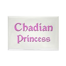 Chadian Princess Rectangle Magnet