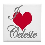 I love (heart) Celeste Tile Coaster