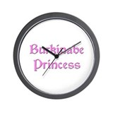 Burkinabe Princess Wall Clock