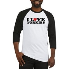 I Love Yorkies Baseball Jersey