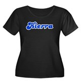 Retro Kierra (Blue) Women's Plus Size Scoop Neck D