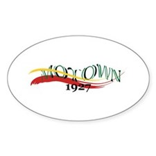 Motown Brush Oval Sticker (10 pk)
