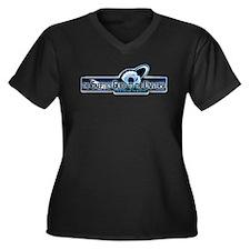 Logo Apparel Women's Plus Size V-Neck Dark T-Shirt
