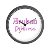 Aruban Princess Wall Clock