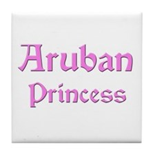 Aruban Princess Tile Coaster