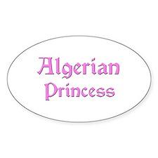 Algerian Princess Oval Decal