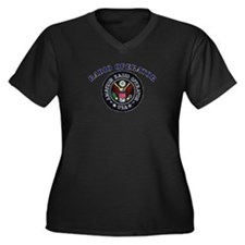 Radio Operator Women's Plus Size V-Neck Dark T-Shi