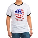 American Atheist Ringer Tee Shirt