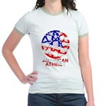 American Atheist Jr Ringer T-Shirt