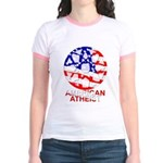American Atheist Jr Ringer T-Shirt