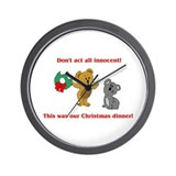 Koala Bear Christmas Wall Clock