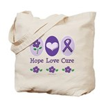 Purple Ribbon Alzheimer's Tote Bag