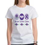 Purple Ribbon Alzheimer's Women's T-Shirt