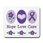 Purple Ribbon Alzheimer's Mousepad