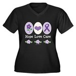 Purple Ribbon Alzheimer's Women's Plus Size V-Neck