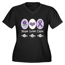 Purple Ribbon Alzheimer's Women's Plus Size V-Neck